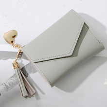 Women Purses Tassel Wallet Fashion Solid Short Hasp Pendent