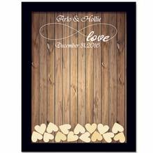 Деревенский Свадебная Гостевая книга с 120 шт. маленькие сердца Свадебные украшения