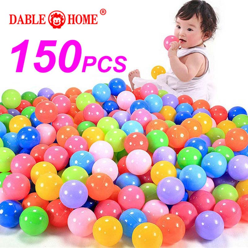 150pcs/lot Eco-Friendly Colorful Soft Plastic Water Pool Ocean Wave <font><b>Ball</b></font> Baby Funny Toys Stress Air <font><b>Ball</b></font> Outdoor Fun Sports HYQ4