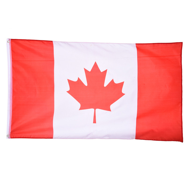 nieuwe 90x150 cm canadese vlag canada nationale land opknoping vlag