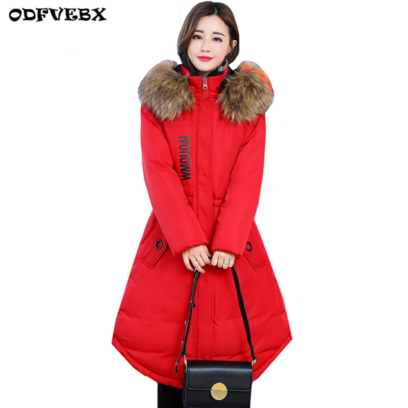 Taille À Long Parkas L 2019 Black Moyen Mm Graisse black 5xl Yellow red Plus Veste Red Lette Occasionnel Capuche De Des Femmes Coton Épais Chaud La Hiver Lette With Manteau PwHE5