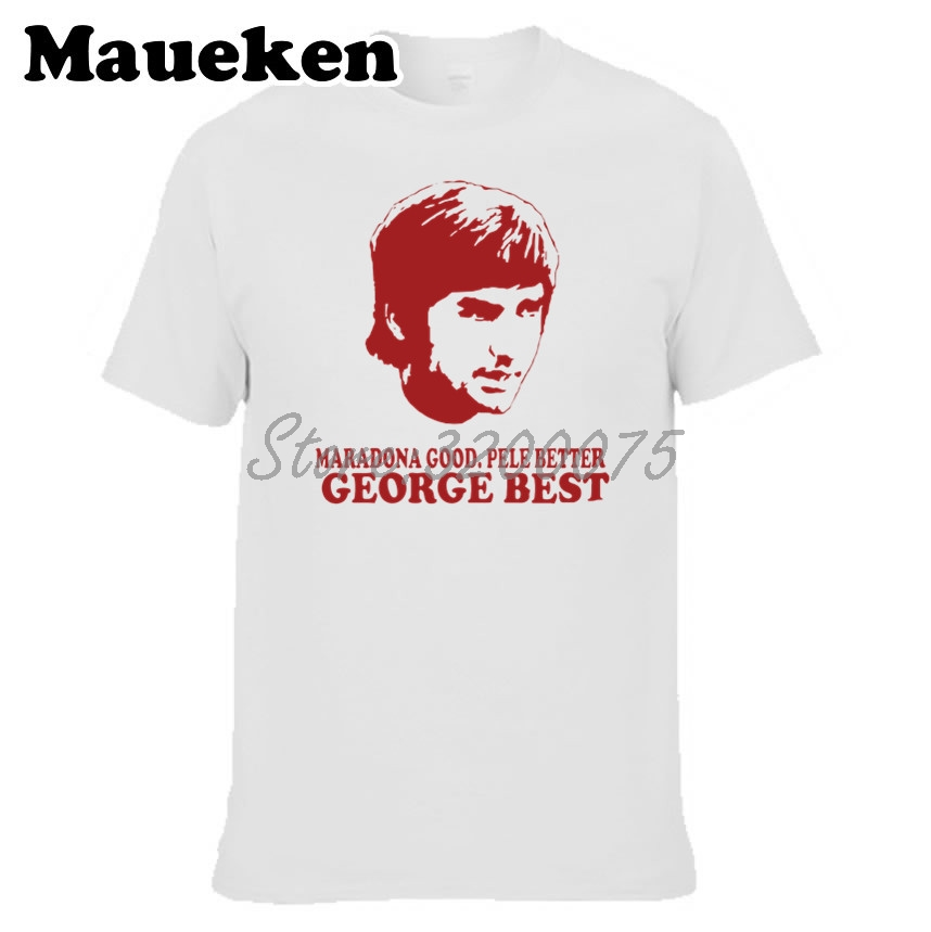 Men George Best 7 Maradona Good Pele Better T-shirt Clothes T Shirt Men's tshirt for fans gift o-neck tee W17120101 image