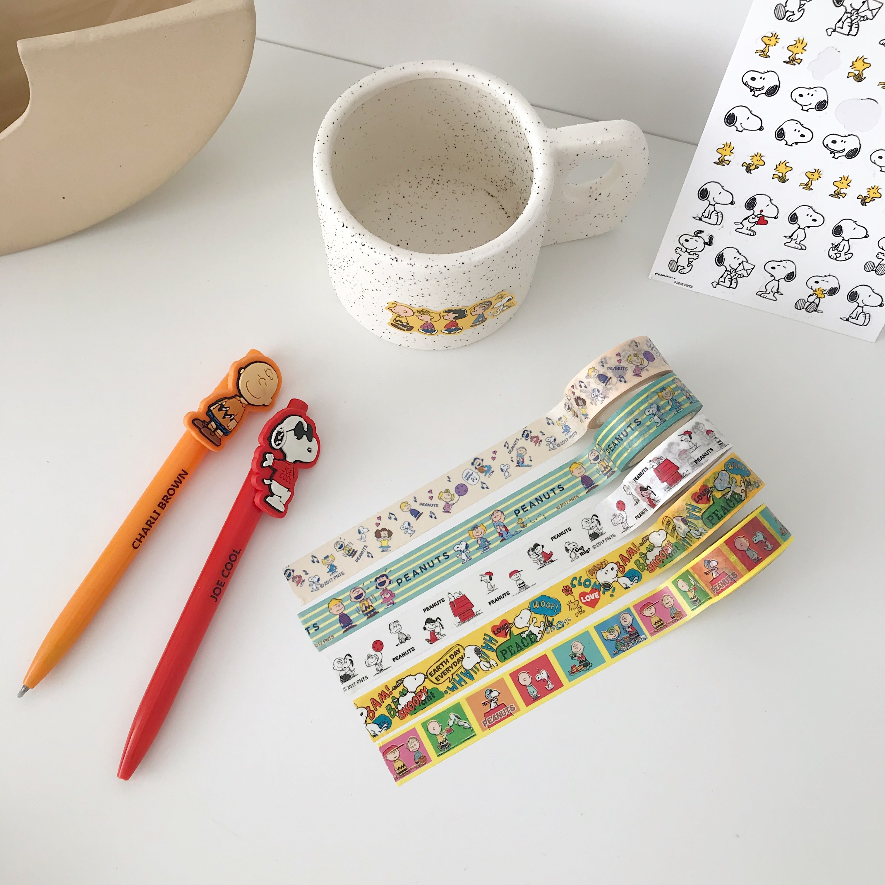 SIXONE Peanut Cartoon Characters Washi Tape Rogue Dog Handbook Decorative Tapes Stationery Office & School Supplies