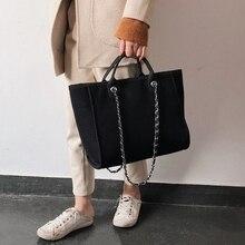 Bolso de hombro grande para mujer, bolsa de viaje de cuero sintético, de lona, de lujo, de diseñador, 2019