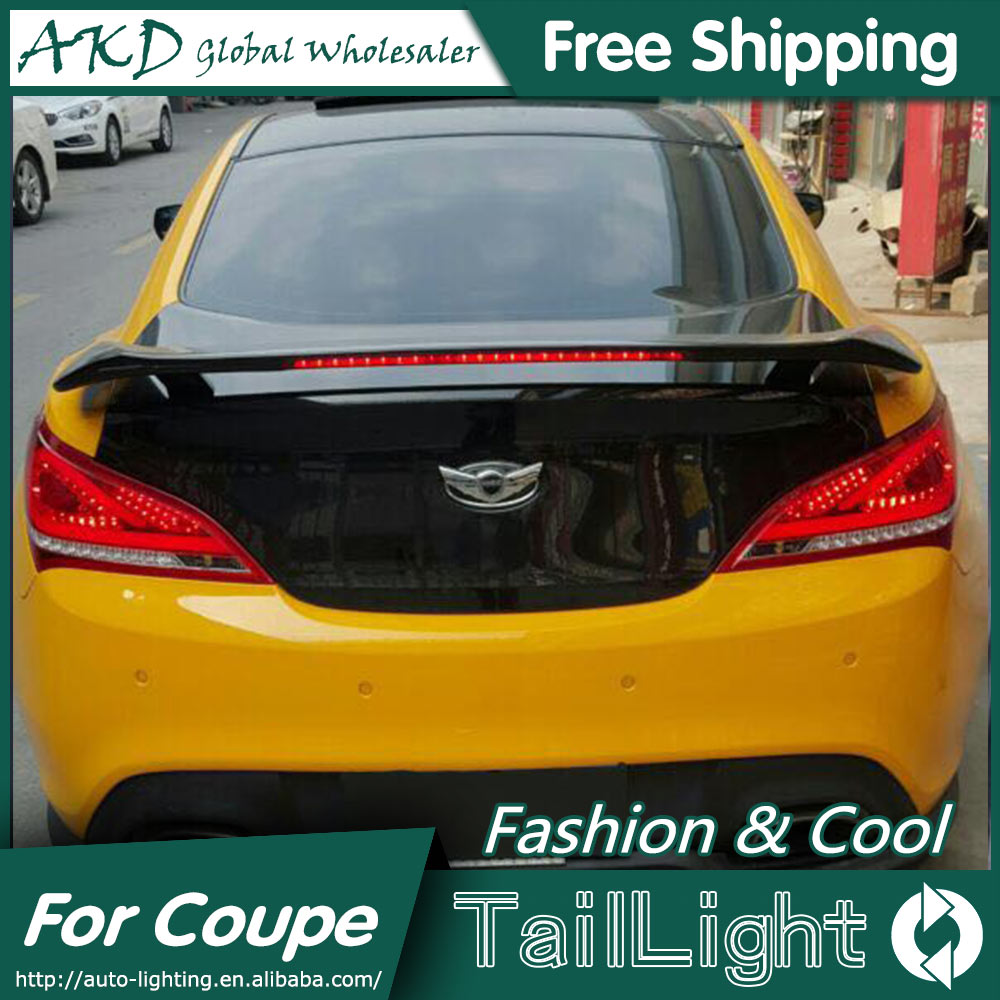 AKD Car Styling for Hyundai Rohens Coupe Tail Lights 2009-2012 Coupe LED Tail Light Rear Lamp DRL+Brake+Park+Signal jgd brand new styling for mitsubishi pajero sport tail lights 2009 2015 led tail light rear lamp led drl singal car lights