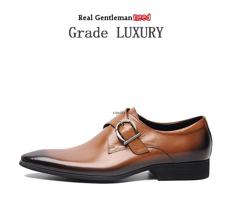 7c9bcde755a2 Sipriks Mens Genuine Leather Burgundy Shoes Classic Men S Split Toe Dress  Shoes Grooms Wedding Party Evening Social Shoes 2018USD 86.00 pair. 1 2 3  ...