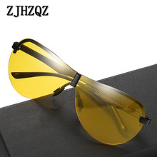 Classic Pilot Men Polarized Sunglasses Aluminum Magnesium Frame Rimless Drive Sun Glasses For Men's Brand Mirror