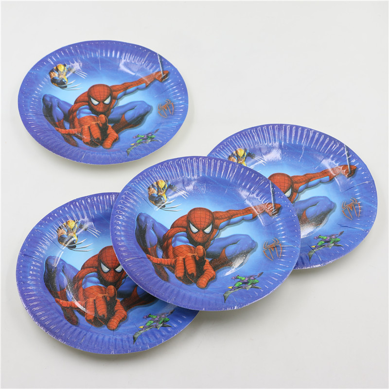 New sale 7inch Cartoon Spiderman Theme Quality Party Paper Plates Boy Birthday Party Supplies Party Plates 10Pcs/Lot P227-in Disposable Party Tableware from ... & New sale 7inch Cartoon Spiderman Theme Quality Party Paper Plates ...