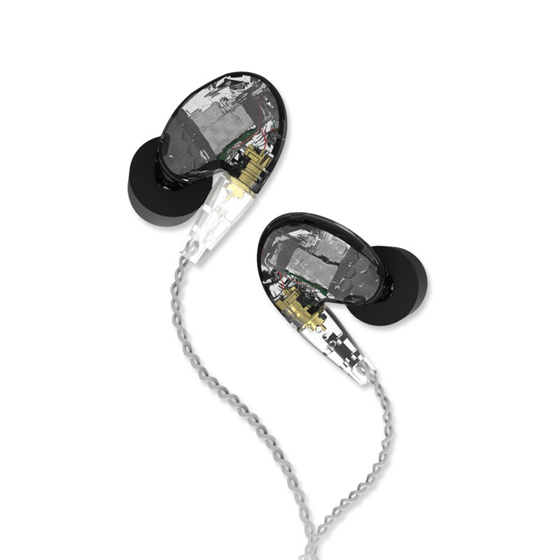 2017 Tingker T300 Three Knowles Balanced Armature HIFI DJ Studio Earpieces In Ear Earphones Honeycomb Headset With MMCX Cable fashion professional in ear earphones light blue black 3 5mm plug 120cm cable