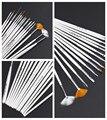 15 unids Decoraciones Del Arte Del Clavo Herramientas del Sistema de Cepillo Profesional Pluma de La Pintura para el Clavo Falso Consejos UV Gel Esmalte de Uñas Belleza accesorios