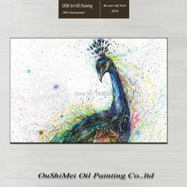 Main Paon Peinture à Lu0027huile Pour Mur Du Salon Belle Peinture à Lu0027
