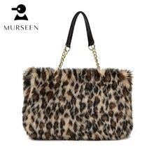 2017 Winter Luxus Marke Frauen Handtaschen Faux Fur Leopard Taschen Designer-handtaschen Hoher Qualität Sac Ein Haupt Femmel Umhängetasche HB1