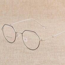 Hotony gafas graduadas con armazón espectáculo, lentes con 6 colores opcionales, montura gratuita con lentes ópticas D818
