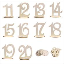 1-10/11-20 wedding table number holder party table number tag stand Wedding Birthday Table Decoration Wooden