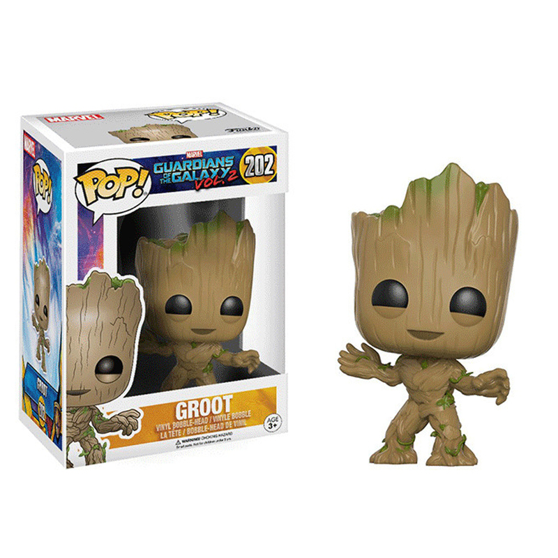 Funko POP Guardians of the Galaxy 2 II DJ Baby Groot Vol 2 Bobble Head PVC Action Figure Resin Collection Model Doll Toy Gift new funko pop guardians of the galaxy tree people groot