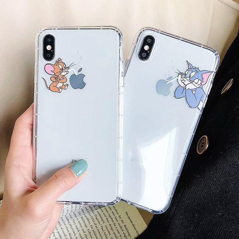 iPhone X XS Max XR Cute Cat Tom