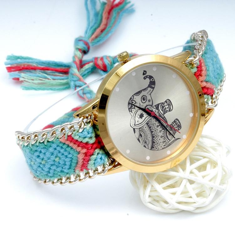 2018 new animal print watch female woven strap casual fashion exquisite precision high-end women's quartz watch