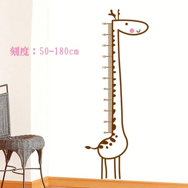 giraffe hoogte stickers dier muurstickers babykamer nursery school kinderkamer sofa slaapkamer tv achtergrond stickers