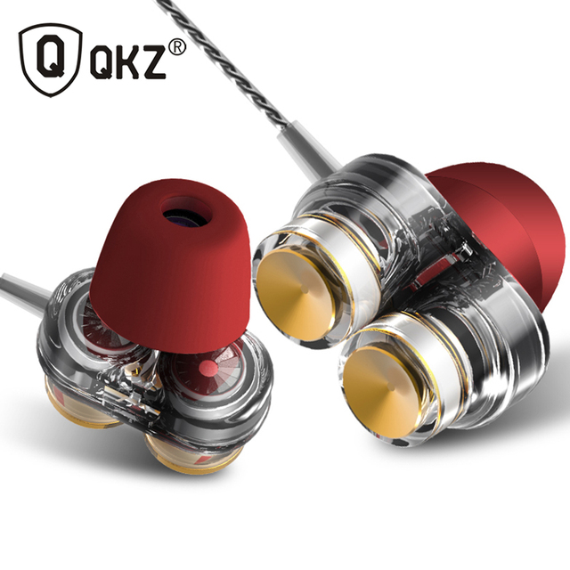 Genuine QKZ KD7 Earphones Dual Driver fone de ouvido auriculares With Mic gaming headset mp3 DJ Field Headset kulaklik audifonos