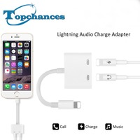 Adapter For Lightning To 2 Lightning Connection For Lightning Audio Charge Adapter For IPhone5 6 6s