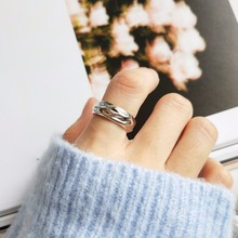 Tin foil paper style 925 sterling silver rings quality pure fashion simple design wild for women charms jewelry