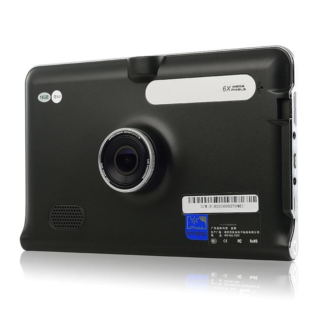 7 polegada Caminhão Do Carro GPS WiFi Android GPS Navegação DVR FM transmitir 16 GB Allwinner A33 Quad-core Offline Mapa Navi Pad Tablet DVR