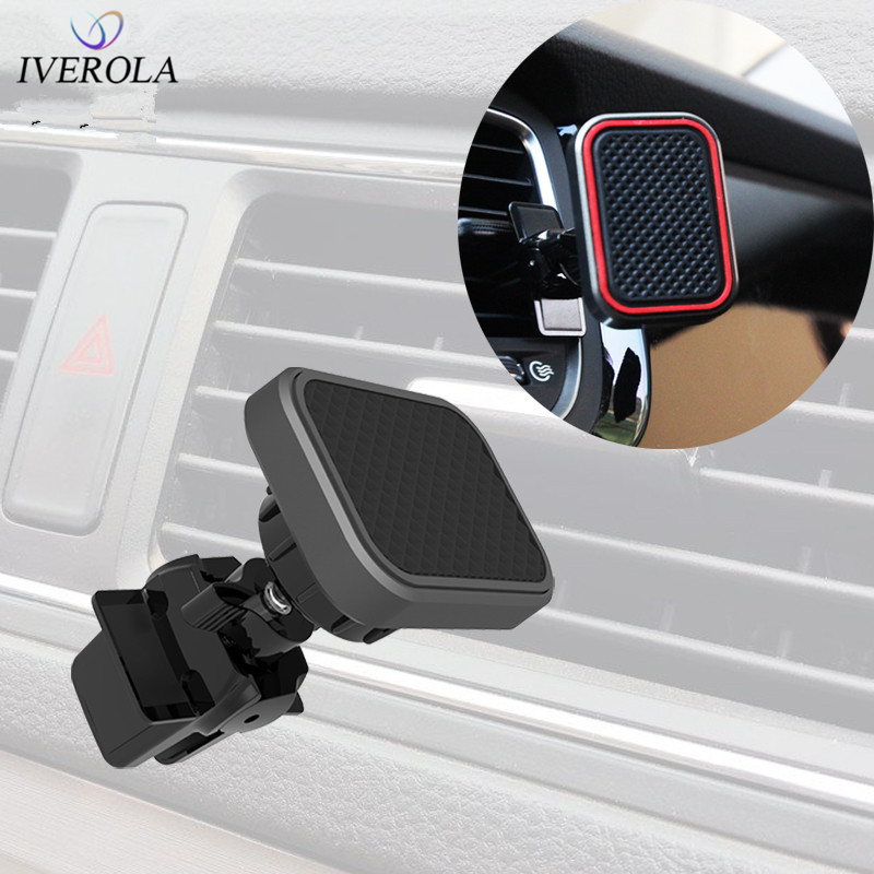 Univerola Car Magnetic Holder For Huawei Universal Magnet Mobile Phone Holder Air Vent Mount Stand 360 Rotation For IPhone X 7 8