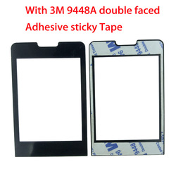 NEW For PHILIPS Xenium X1560 Panel lens Not Glass Touch Screen With 3M 9448A double faced Adhesive sticky Tape