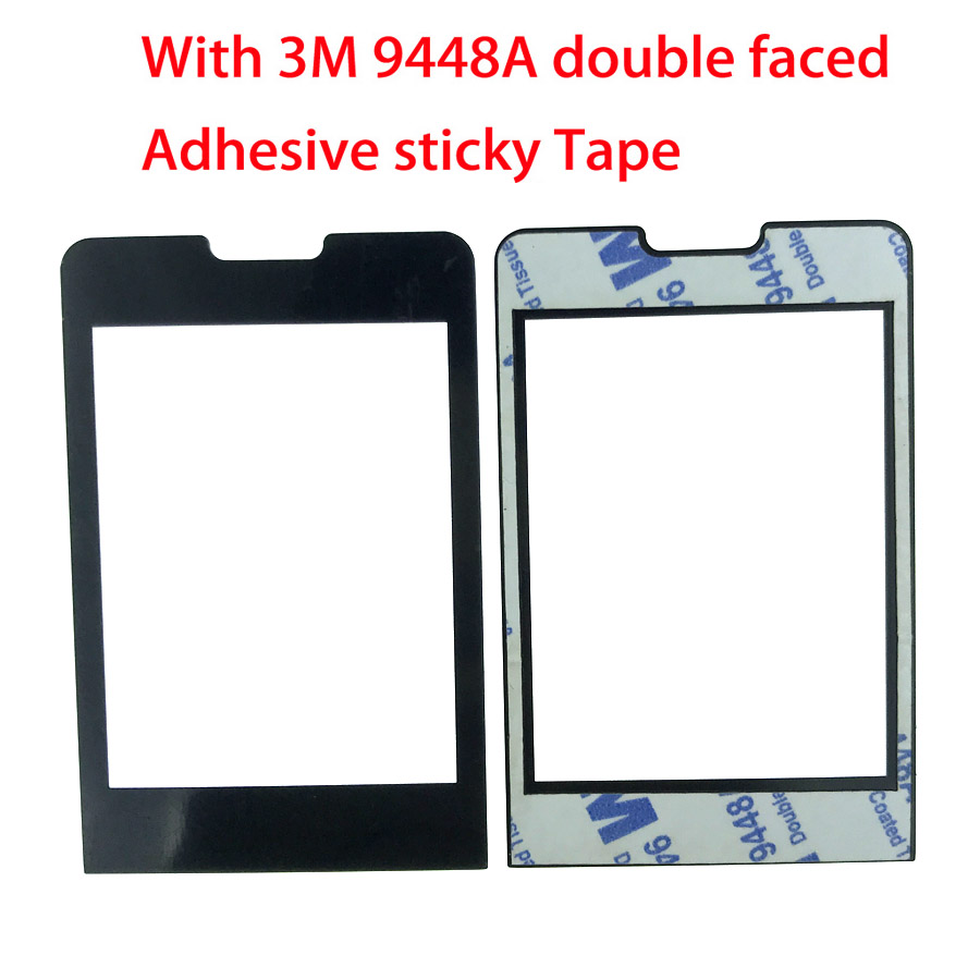 NEW For PHILIPS Xenium X1560 Panel lens Not Glass Touch Screen With 3M 9448A double faced Adhesive sticky Tape image
