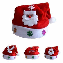 Newborn Baby Santa Claus Photo Props Infant Baby Cute Christmas Hat Crochet Baby New Year's Hat Accessories Photo Shoot(China)