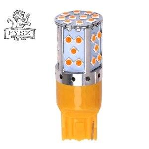 Image 2 - 2PCS T20 7440 veículo led 35smd luz decodificação de alto brilho sinal de volta veículo taillight com corrente constante de luz amarela