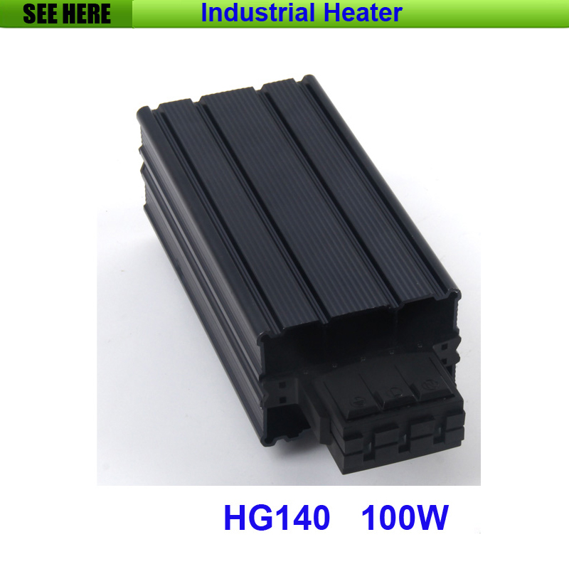 Free Shipping 100w Industrial Cabinet Heater PTC Sermiconductor Heater 35mm Din Rail Type Heater Together With Thermostat