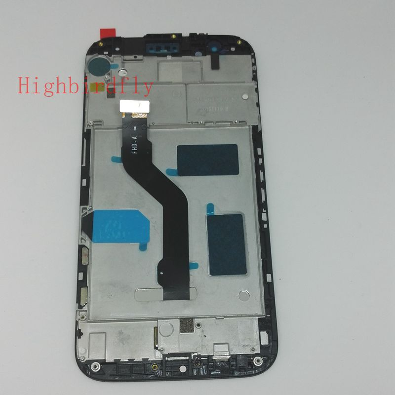 Tested Lcd display+Digitizer Touch Glass screen Frame Assembly For Huawei Ascend G8 RIO-L02 RIO-L03 Pantalla White/black 5 0for huawei ascend p7 p7 l10 l09 lcd screen display touch screen digitizer frame assembly replacement pantalla repair parts