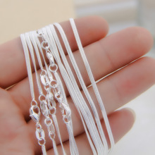 Hot Sales wholesale retail 16 18 20 22 24 inch Beautiful fashion silver color 1M