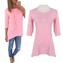 Women 3 4 Sleeve Long Tops font b Blouse b font font b Shirt b font