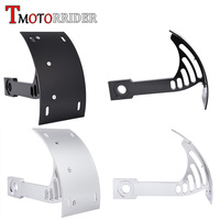 Billet Aluminum Black Chrome Swingarm Side Mount Curve Tail License Plate Holder Bracket for Yamaha Vmax V max 1200 1700