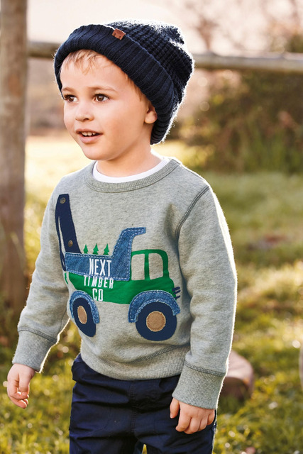 2015 Kids handsome boys clothes Gray long sleeved T shirt