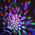 Nuevas adquisiciones etapa luces láser proyector led base girada activado por voz led bola de cristal mágica luz del disco de dj free gratis