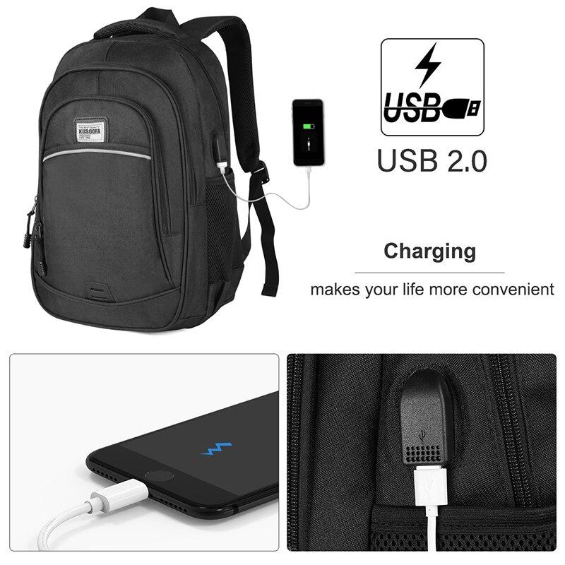 Backpack Waterproof USB Charging Laptop Backpack Anti Theft men's Backpack Travel Teenage Back pack bag male Bagpack mochila (12)