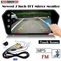 Koorinwoo 2019 Car Rearview Monitor Touch Screen 1024x600 Mirror Screen TF USB Bluetooth MP5 Player Explorer web Parking Reverse