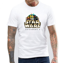 BLWHSA Homme 2017 New Hombre Novelty Star Wars Episode 1 Men T-Shirts 3D Print Tops O-Neck Short Sleeve Male Funny Tees Tshirts