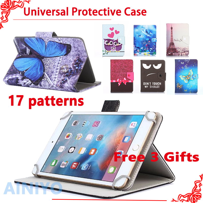 Universal Cover for Alcatel One Touch POP 8/PIXI 8/POP 8S 8 inch Tablet Printed PU Leather Stand Case 3 Gifts 100% original lcd display for alcatel one touch p320 p320x pop 8 pop 8s p350 p350x lcd 8 0 inch free shipping
