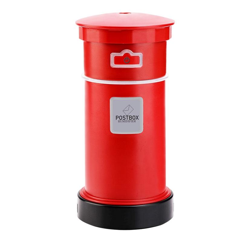 Rétro Postbox humidificateur lumière ambiante USB vaporisateur hydratant voiture bureau Purification dortoir Air aromathérapie LED Portable