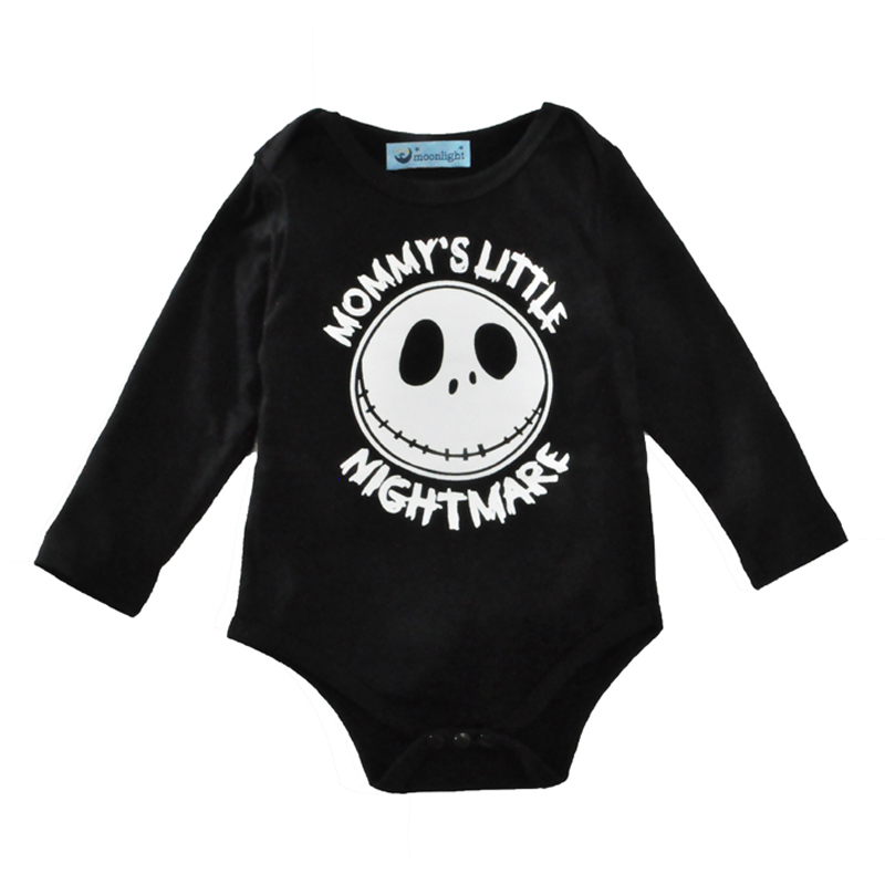 Spring Long sleeve Halloween Clothes Jumpsuit For Girl Boys Spring Infant Baby Romper 2017 Personality Skull Baby Infant Romper