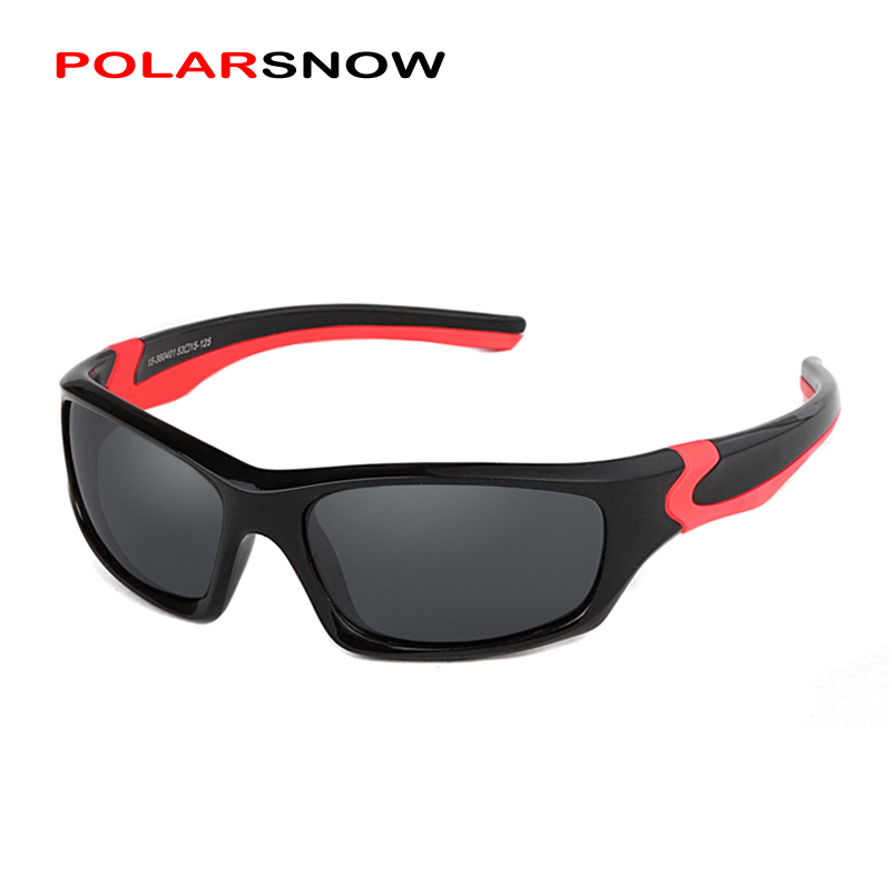 POLARSNOW Kids Sunglasses 2017 Polarized Brand Designer Childrens Sun Glasses Baby Eyeglasses 100%UV Protection Oculos De Sol dz chm1 clip head mount kit for sony action camera fdr x1000v hdrr as200v hdr az1vr hdr as100v