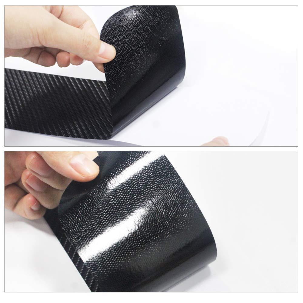 4pcs for Nissan Murano Door Sill Protector Reflective 4D Carbon Fiber Sticker Door Entry Guard Door Sill Scuff Plate Stickers