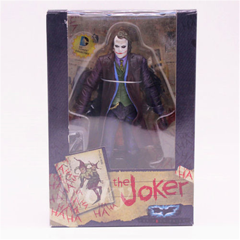 DC Marvel Super Heroes Joker Toys PVC 7 inch Action Figure Anime Doll Collectible Model Toy for Children Gift 8pcs set 6cm marvel super hero batman pvc action figure model doll toys