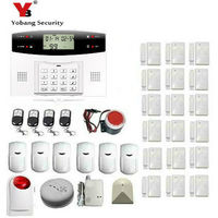 YobangSecurity Russian Spanish French Italian Wireless GSM SMS Home Burglar Security Alarm System Home Emergency Alert Alarm