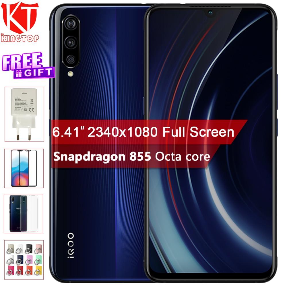 "Vivo iQOO Mobile Phone 6GB 128GB 6.41 Snapdragon 855 Octa Core 3Cameras 12MP+13MP+2MP Android 9 4000mAh NFC Smartphone"""