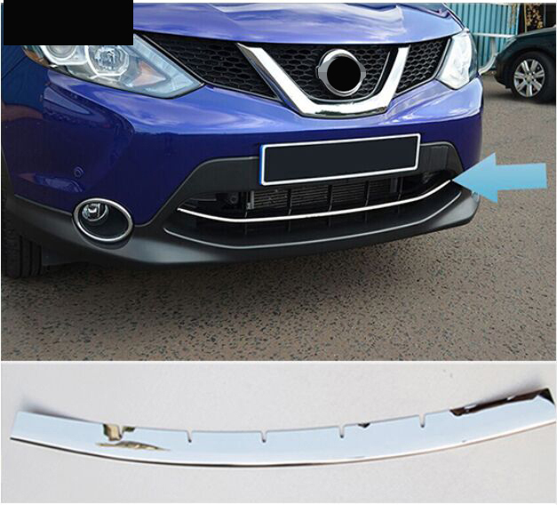 ACCESSORIES FIT FOR 2014 2015 2016 nissan QASHQAI CHROME FRONT LOWER MESH GRILL GRILLE COVER TRIM GUARD MOLDING silver front mesh grilles trim grill cover insert shell honeycomb fit for jeep patriot 11 2015
